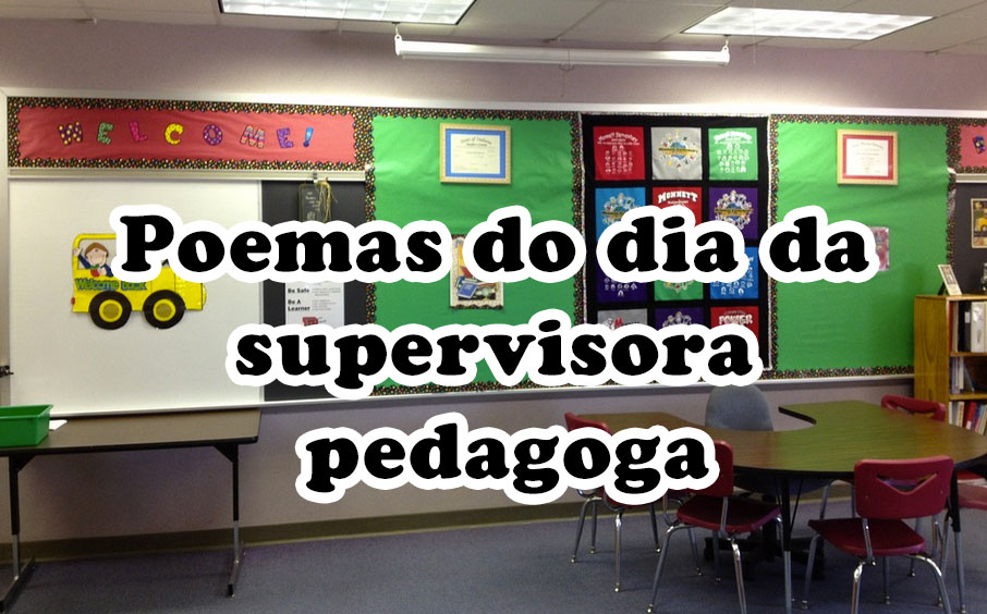 Poemas do dia da supervisora pedagoga